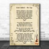 Black Sabbath War Pigs Song Lyric Music Wall Art Print