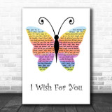 Jessica Andrews I Wish For You Rainbow Butterfly Song Lyric Art Print