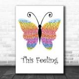 Alabama Shakes This Feeling Rainbow Butterfly Song Lyric Art Print