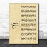 Maddie & Tae Fly Rustic Script Song Lyric Art Print