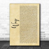 Cardi B WAP Rustic Script Song Lyric Art Print