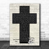 Casting Crowns Love Moved First Music Script Christian Memorial Cross Song Lyric Art Print