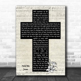 Rich Mullins Hold Me Jesus Music Script Christian Memorial Cross Song Lyric Art Print