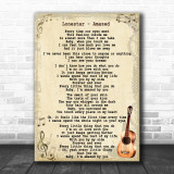 Lonestar Amazed Song Lyric Vintage Music Wall Art Print