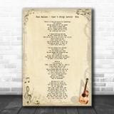 Van Halen Can't Stop Lovin' You Vintage Guitar Song Lyric Art Print