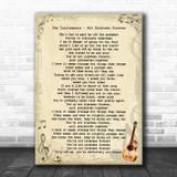 The Courteeners Not Nineteen Forever Vintage Guitar Song Lyric Art Print