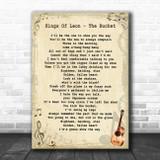 Kings Of Leon The Bucket Vintage Guitar Song Lyric Art Print