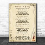 The Beatles All My Loving Song Lyric Music Wall Art Print