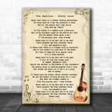 The Beatles Penny Lane Song Lyric Vintage Music Wall Art Print