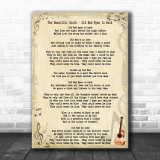 The Beautiful South Old Red Eyes Is Back Song Lyric Music Wall Art Print