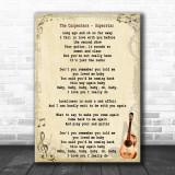 The Carpenters Superstar Song Lyric Vintage Music Wall Art Print