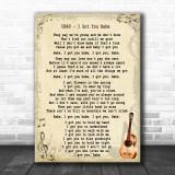 UB40 I Got You Babe Song Lyric Vintage Music Wall Art Print