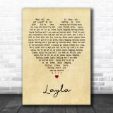 Layla Eric Clapton Vintage Heart Song Lyric Music Wall Art Print