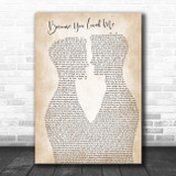 Celine Dion Because You Loved Me Two Men Gay Couple Wedding Song Lyric Print