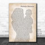 Dick Van Dyke Hushabye Mountain Mother & Baby Decorative Wall Art Gift Song Lyric Print