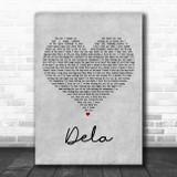 Johnny Clegg Dela Grey Heart Decorative Wall Art Gift Song Lyric Print