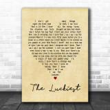 The Luckiest Ben Folds Vintage Heart Song Lyric Music Wall Art Print