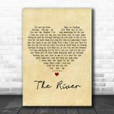 Santana The River Vintage Heart Decorative Wall Art Gift Song Lyric Print