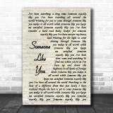 Van Morrison Someone Like You Song Lyric Vintage Script Music Wall Art Print