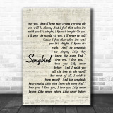 Fleetwood Mac Songbird Song Lyric Music Wall Art Print