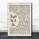 Staind Tangled Up In You Song Lyric Vintage Script Music Wall Art Print
