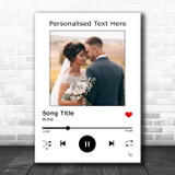 White Your Photo Spotify Music Any Song Lyric Wall Art Print