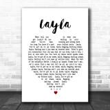 Layla Eric Clapton Heart Song Lyric Music Wall Art Print