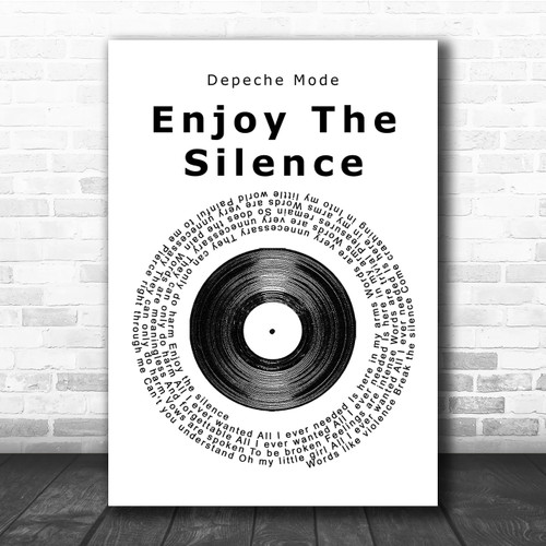 No Framed Depeche Mode Enjoy The Silence Band Music Lyric Song  Signed Poster