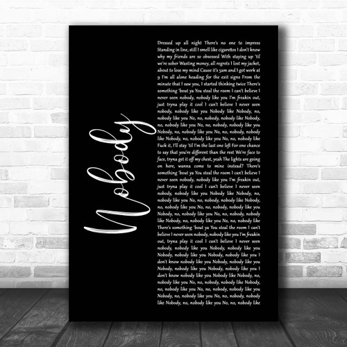 Martin Jensen James Arthur Nobody Black Script Song Lyric Print Song Lyric Designs Martin garrix dua lipa scared to be lonely official video. song lyric designs