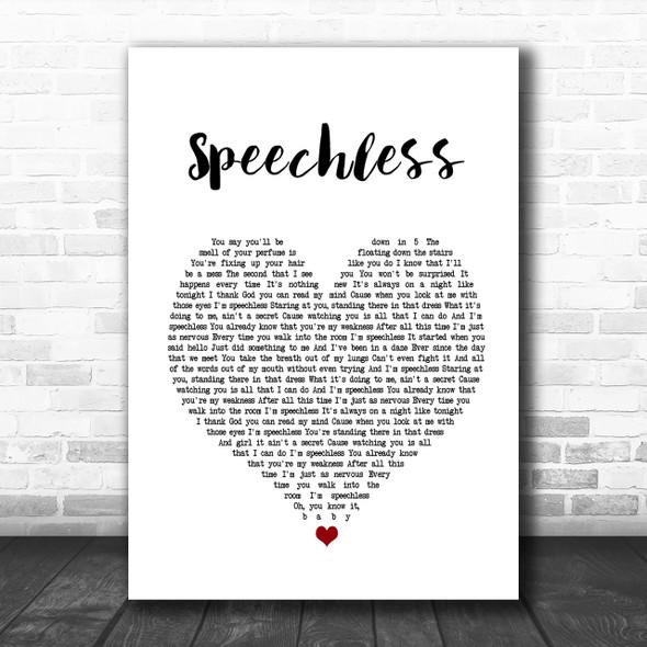 Dan + Shay Speechless Heart Song Lyric Music Wall Art Print