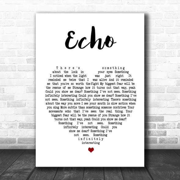 Incubus Echo Heart Song Lyric Music Wall Art Print
