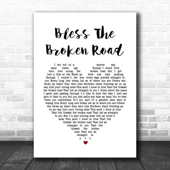 Rascal Flatts Bless The Broken Road Heart Song Lyric Music Wall Art Print