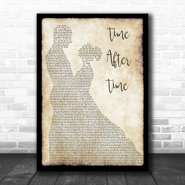 Cyndi Lauper Time After Time Man Lady Dancing Song Lyric Quote Print