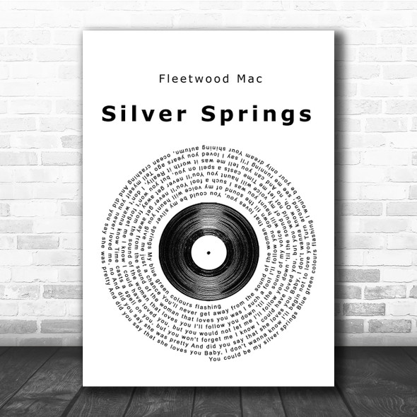 Fleetwood Mac Silver Springs Vinyl Record Song Lyric Print