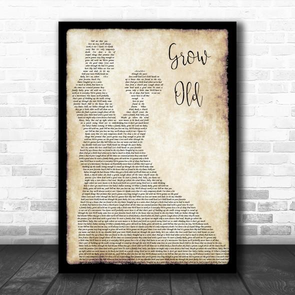 Florida Georgia Line Grow Old Man Lady Dancing Song Lyric Quote Print