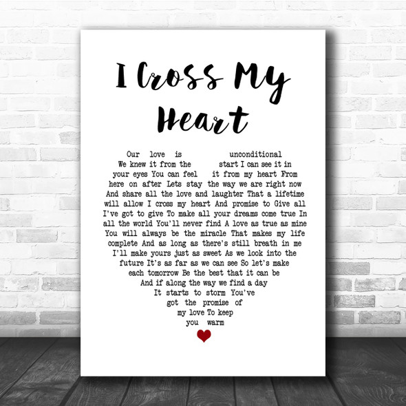 George Strait I Cross My Heart Heart Song Lyric Quote Print
