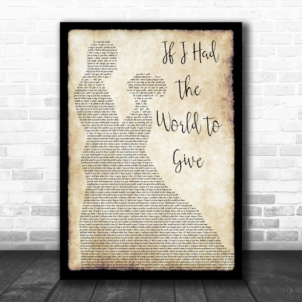 Grateful Dead If I Had The World To Give Man Lady Dancing Song Lyric Quote Print