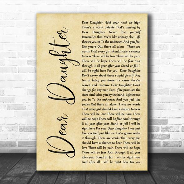 Halestorm Dear Daughter Rustic Script Song Lyric Quote Print
