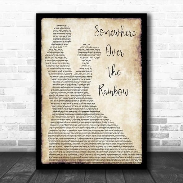 Israel Kamakawiwo'ole Somewhere Over The Rainbow Man Lady Dancing Song Print