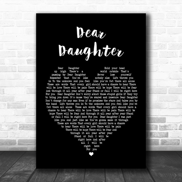 Halestorm Dear Daughter Black Heart Song Lyric Music Wall Art Print
