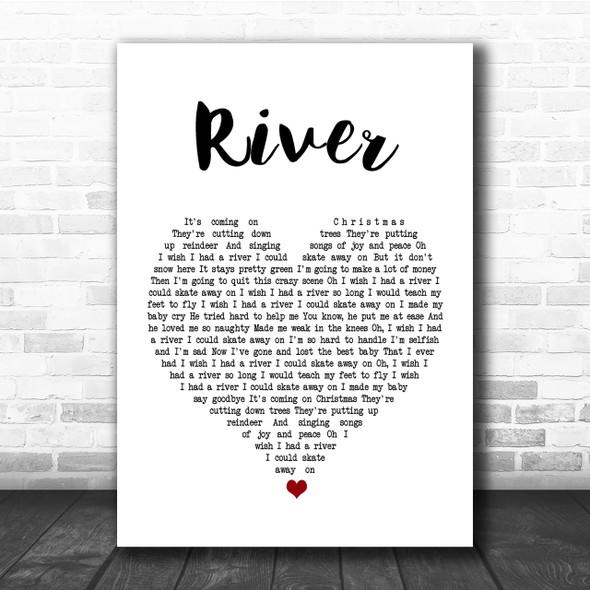 Joni Mitchell River Heart Song Lyric Print