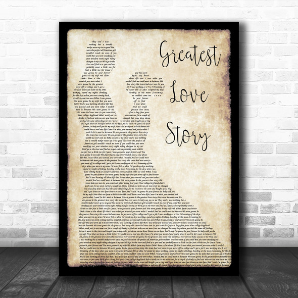 LANCO Greatest Love Story Man Lady Dancing Song Lyric Quote Print
