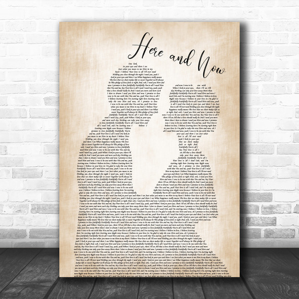 Luther Vandross Here and Now Man Lady Bride Groom Wedding Print