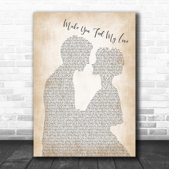 Straight No Chaser Make You Feel My Love Man Lady Bride Groom Wedding Print