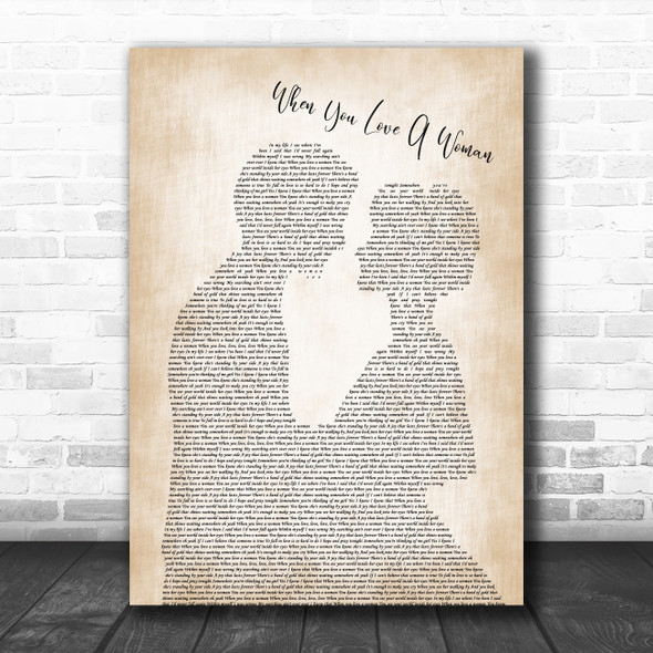 Journey When You Love A Woman Man Lady Bride Groom Wedding Song Lyric Poster Print