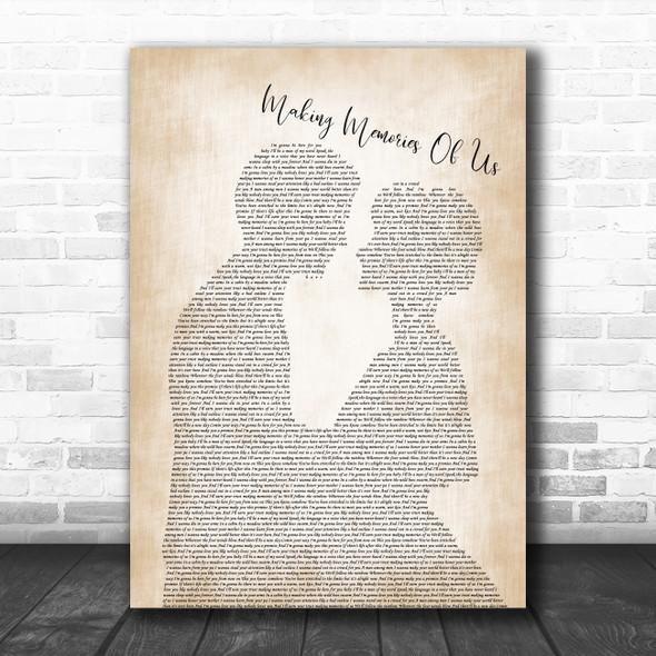 Keith Urban Making Memories Of Us Man Lady Bride Groom Wedding Song Lyric Poster Print