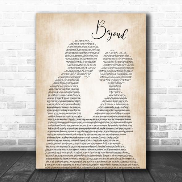 Leon Bridges Beyond Man Lady Bride Groom Wedding Song Lyric Poster Print