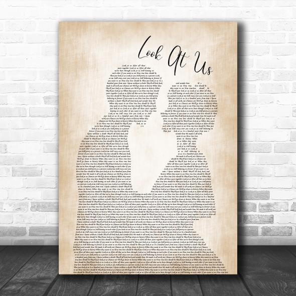 Vince Gill Look At Us Man Lady Bride Groom Wedding Song Lyric Poster Print