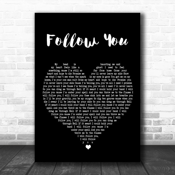 Bring Me The Horizon Follow You Black Heart Song Lyric Poster Print