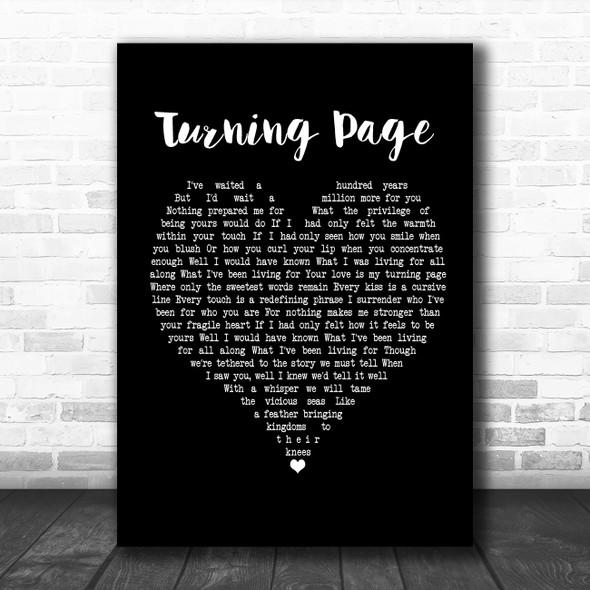 Sleeping At Last Turning Page Black Heart Song Lyric Poster Print